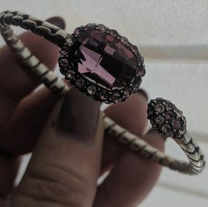 Brighton amethyst & silver bracelet